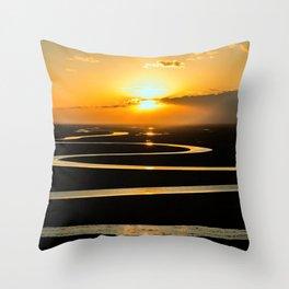 The Congo River Basin at Sunset Photographic Throw Pillow