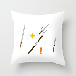 Ninja Swords Throw Pillow