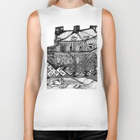 copenhagen Biker Tanks featuring Copenhagen by intermittentdreamscapes