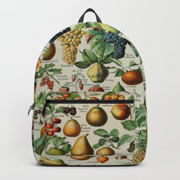 Fruits Vintage Scientific Illustration French Language Encyclopedia Lithographs Educational Backpack