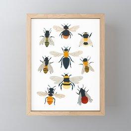 British Bees Framed Mini Art Print