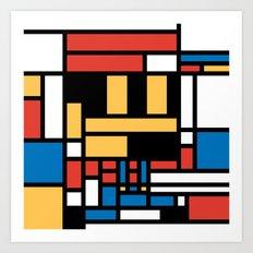 Super Mondrian Art Print