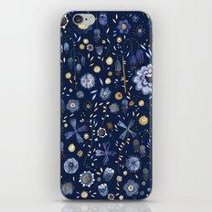 Indigo Flowers at Midnight iPhone & iPod Skin