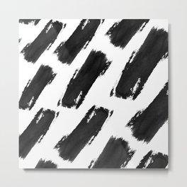 Brush Swipe Metal Print