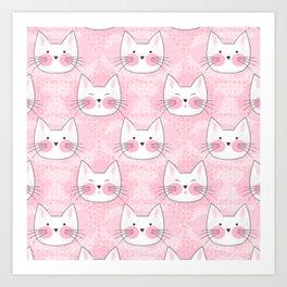 Little Girls Birthday Kitty Cats Art Print