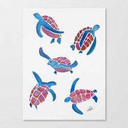 turtle illustration Canvas Print