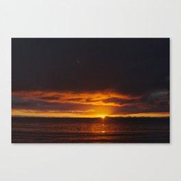 winter sunrise in abel tasman Canvas Print