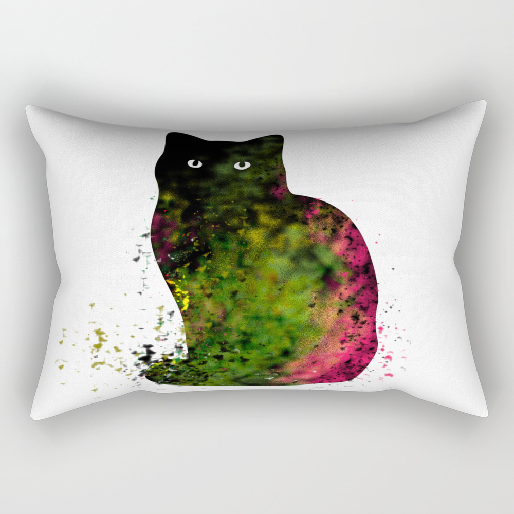 Pretty Kitty Rectangular Pillow RPW8091319