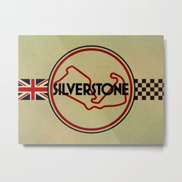 Silverstone, gentlemen racing Metal Print