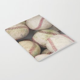 Many Baseballs - Background pattern Sports Illustration Notebook