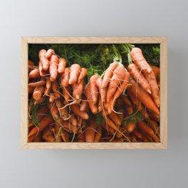 Carrots Straight Up Framed Mini Art Print