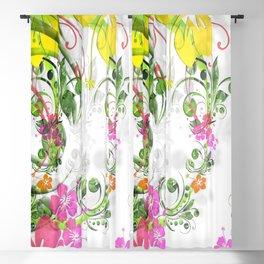 flowers floral Blackout Curtain