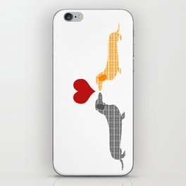 Two Dachshund dogs in love iPhone Skin