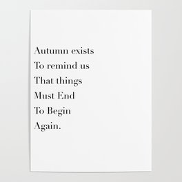 autumn exists Poster