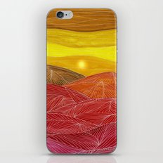 Lines in the mountains IX iPhone & iPod Skin