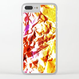 Wrinkled Dreams Clear iPhone Case