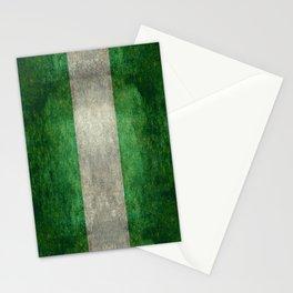 National flag of Nigeria, Vintage retro style Stationery Cards