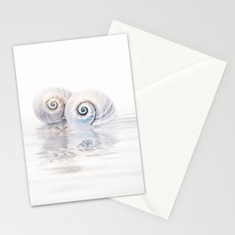 Snail Shells On Water Stationery Cards