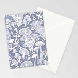 Delicious Autumn botanical poison IV // blue grey background Stationery Cards