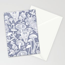 Delicious Autumn botanical poison IV // blue grey background Stationery Cards