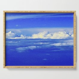 Sky Clouds Horizon Serving Tray