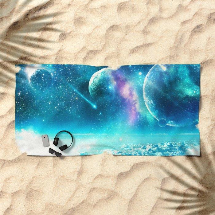 Planets on the Sky Beach Towel