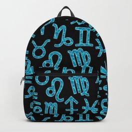 Zodiac signs background. Horoscope symbols. Astrology Backpack