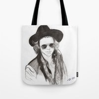 harry styles Tote Bags featuring harry styles by stylin_art