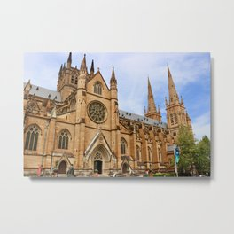 St Mary's Cathedral in Sydney Australia Metal Print