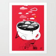 Coffee ASleep Art Print