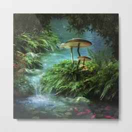 Enchanted Pond Metal Print