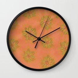 Terra Cotta Petal Rose Wall Clock