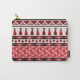 African Tribal Pattern No. 85 Carry-All Pouch