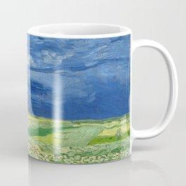 Wheatfield under thunderclouds by Vincent van Gogh Coffee Mug