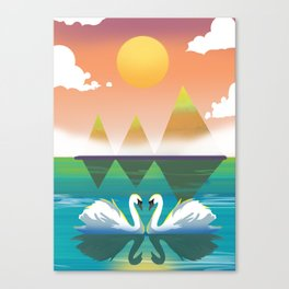 Love Swan Canvas Print