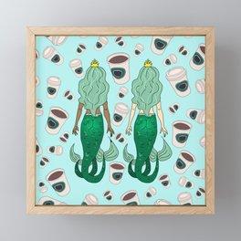 Star Butts Coffee Mermaids Framed Mini Art Print