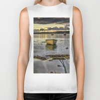rowing Biker Tanks featuring Sheephaven bay by cmphotography