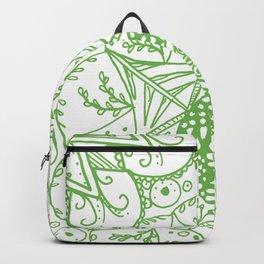 Beth Mandala Green Backpack