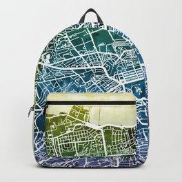 Edinburgh Scotland Street Map Backpack
