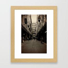 Degraves Street Framed Art Print