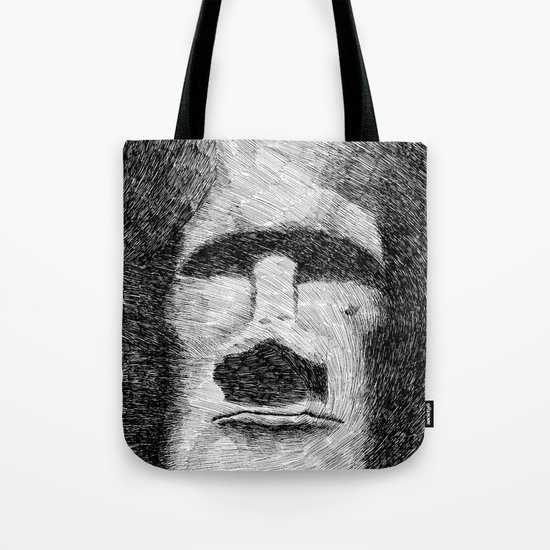 Easter island - Moai statue - Ink Tote Bag