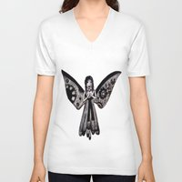 angel V-neck T-shirts featuring Angel by Sara Hazaveh