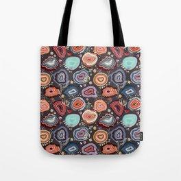Colorful agates Tote Bag