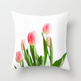 Dose of Spring by Tulips Throw Pillow