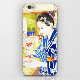 Gohan at the ticket restaurant iPhone Skin