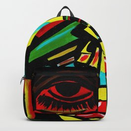 """""""Rosy Cheeks"""" Abstract Portrait Painting Backpack"""