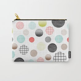 Drawn Circles Carry-All Pouch
