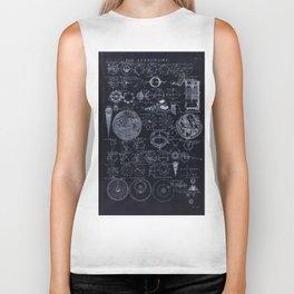 Astronomy Blueprint Diagrams Biker Tank