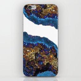 Agate metallic blue & gold iPhone Skin