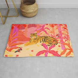 Tiger and Mandarin Ducks Rug